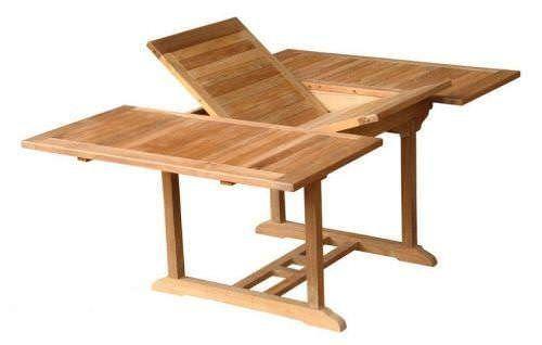 Teak Table Square Extending 1.2m x 1.2m-1.8m