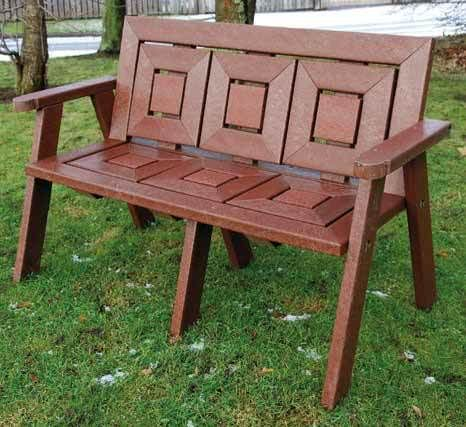 Recycled Plastic 2 Seater Garden Seat