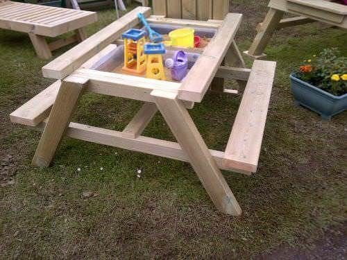Childrens Swedish Redwood Picnic Play Table
