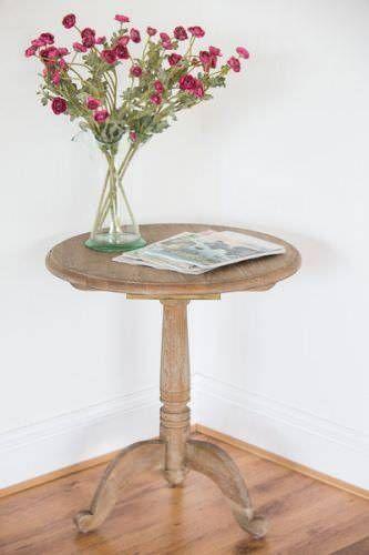 American Oak Grey Wash Circular Hall Table