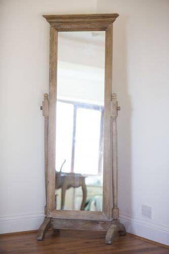 American Oak Grey Wash Bedroom Mirror