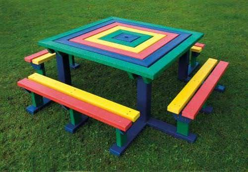 Junior Recycled Plastic Square Picnic Bench
