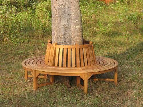 1.7m Teak Round Tree Seat