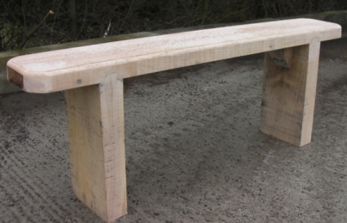 Oak Backless Woodland Bench