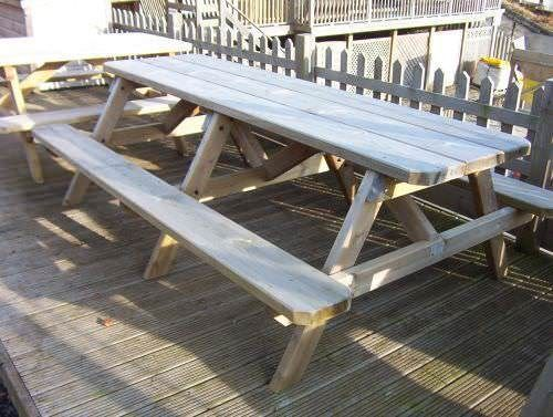 2.4m Double Length Picnic Bench