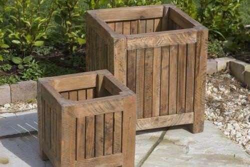 Reclaimed Teak Planter