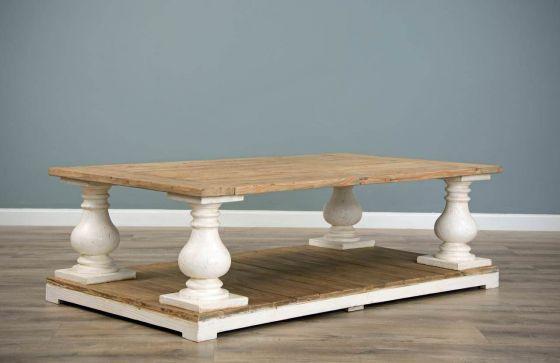 140cm Reclaimed Pine Ellena Coffee Table