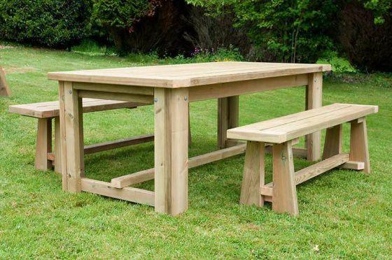Swedish Redwood Rustic Dining Table
