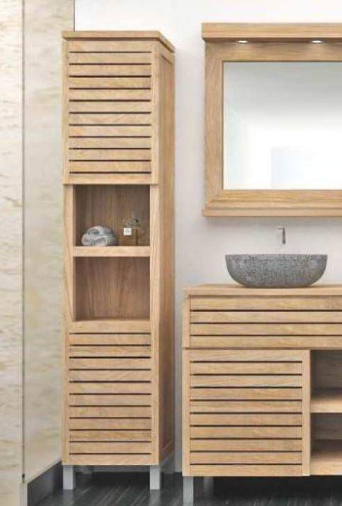 Diva Teak Tall Bathroom Cabinet