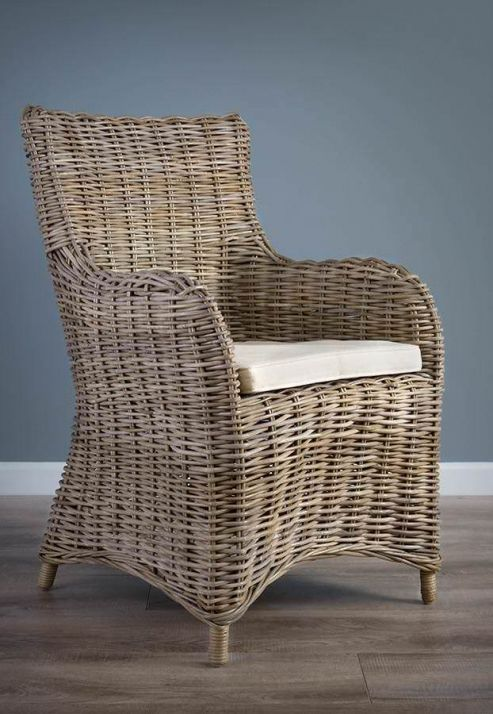 Natural Wicker Armchair - Donna