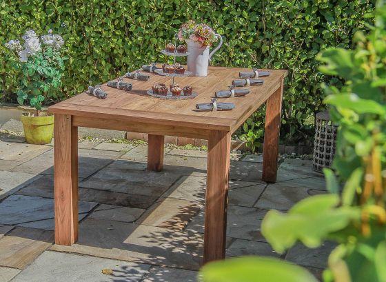 2m Reclaimed Teak Open Slatted Dining Table