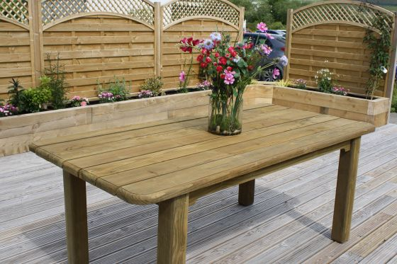 Rectangular Woodland Garden Table