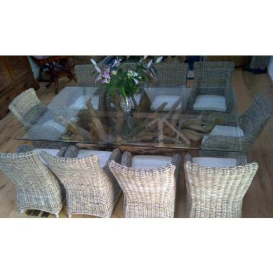 2.4m x 1.4m Reclaimed Teak Root Rectangular or Oval Dining table
