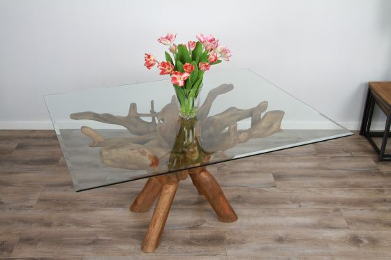 1.5m x 1.2m Reclaimed Teak Root Rectangular Dining Table