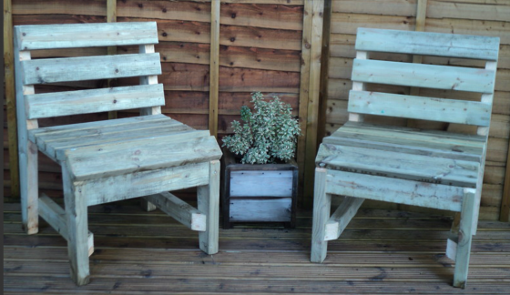 Swedish Redwood Rustic Chair