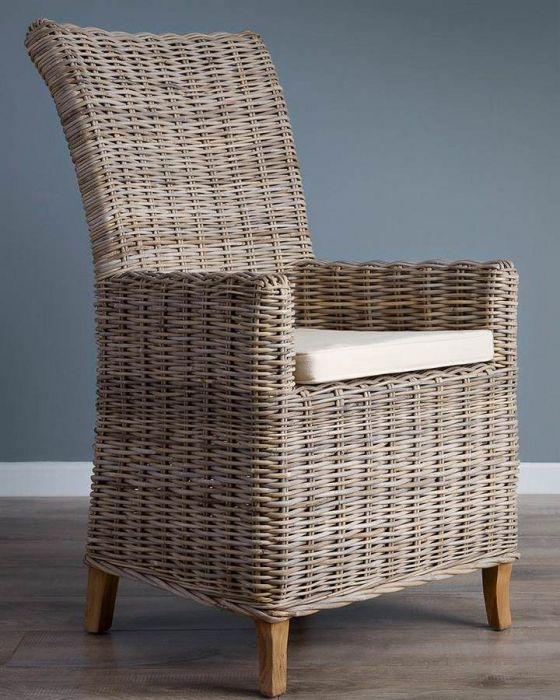 Natural Wicker Armchair - Latifa
