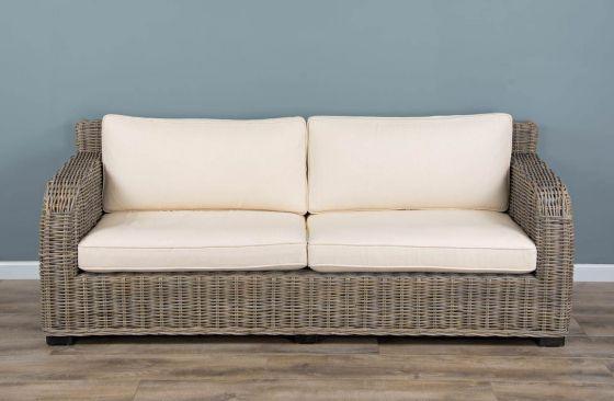 Natural Wicker 2 or 3 Seater Manga Sofa