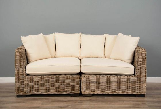Natural Wicker 2 Sectional Puri Sofa