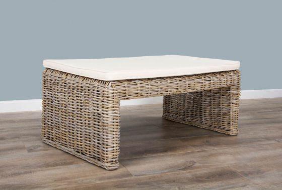 100cm Natural Wicker Zara Footstool