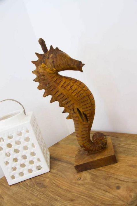 Reclaimed Teak Root Seahorse Sculpture