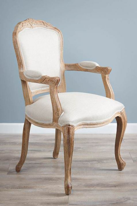 American Oak Grey Wash Claremont Armchair
