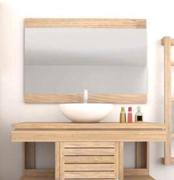 Oasis Contemporary Teak Mirror