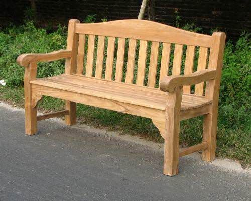 Sustainable Teak Garden Bench - Oxford