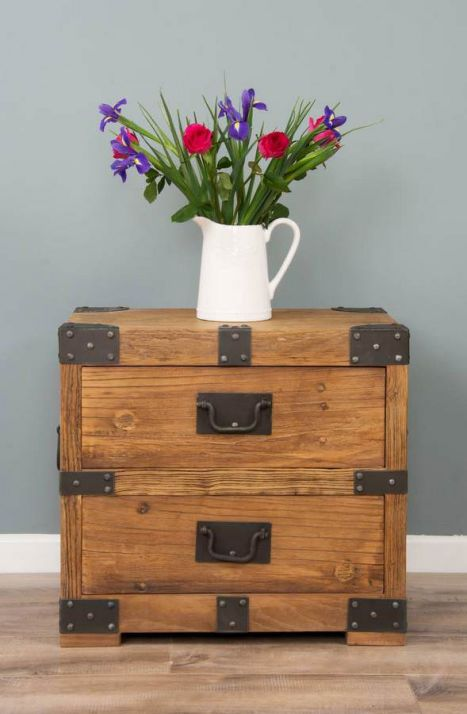 Reclaimed Elm Chunky Chest with Two Drawers