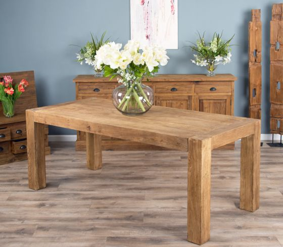 2.4m Reclaimed Elm Luxury Chunky Style Dining Table