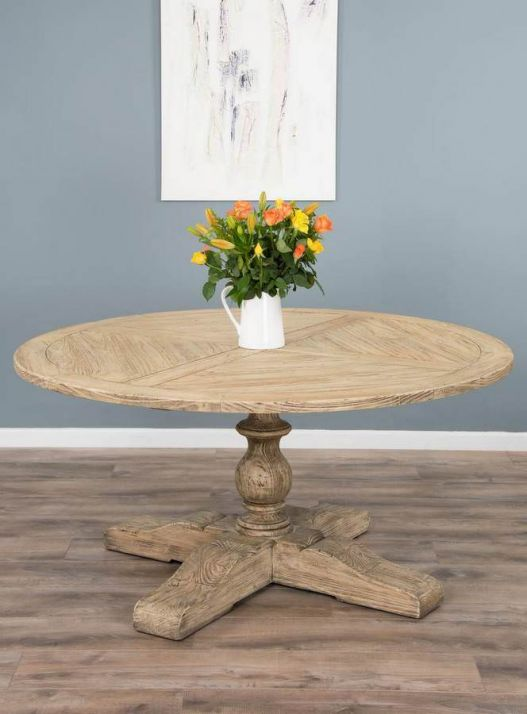1.6m Reclaimed Pedestal Dining Table