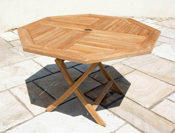 1.2m Teak Octagonal Folding Table