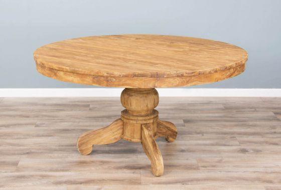 1.5m Reclaimed Teak Circular Pedestal Dining Table