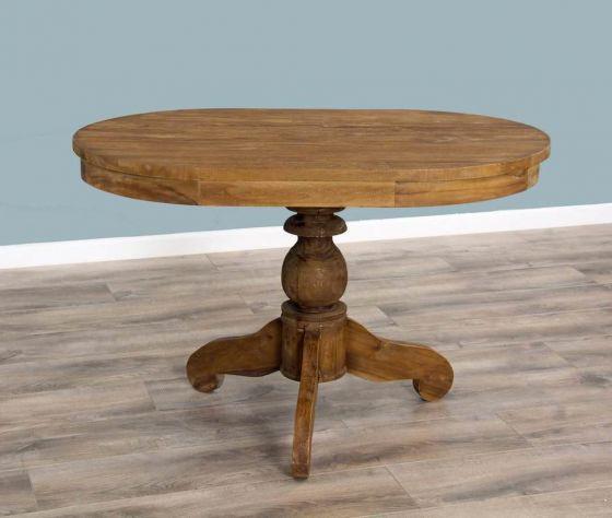 120cm x 80cm Reclaimed Teak Oval Pedestal Dining Table
