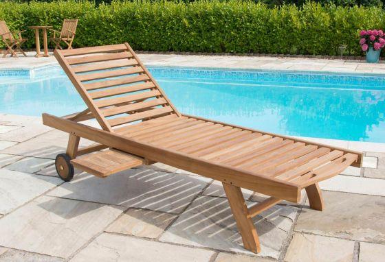 Richmond Teak Garden Sun Lounger