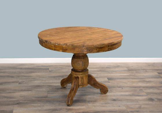 1m Reclaimed Teak Circular Pedestal Dining Table