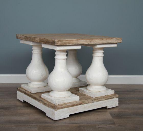 50cm Reclaimed Pine Ellena Side Table