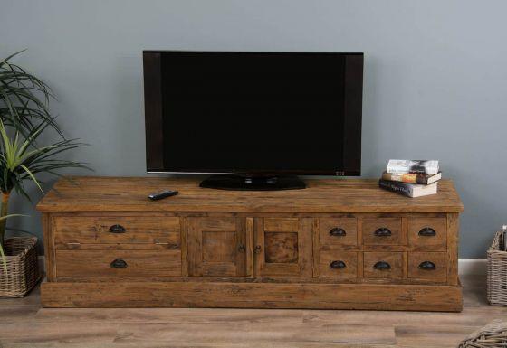Rustic Reclaimed Teak TV Cabinet