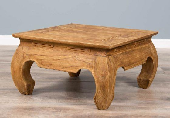 60cm Rustic Reclaimed Teak Opium Coffee Table