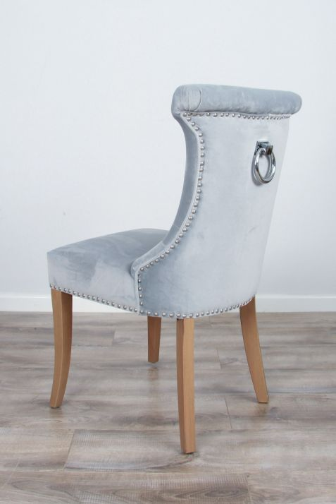 The Velveteen Ring Back Dining Chair - Sea Mist