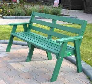 Recycled Plastic 3 Seater Bench