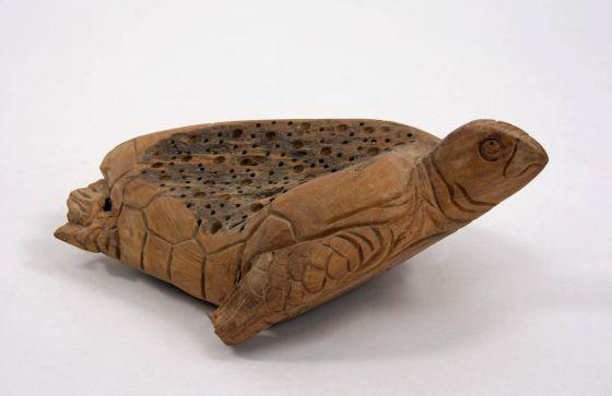 Reclaimed Teak Root Turtle Sculpture