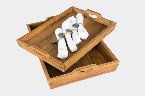 Solid Reclaimed Teak Serving Tray