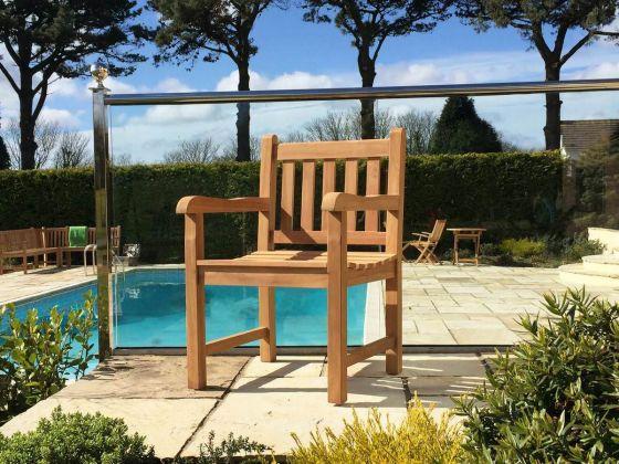 Traditional Teak Garden Armchair