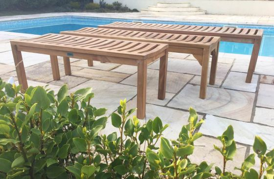 Teak Garden Bench - Backless