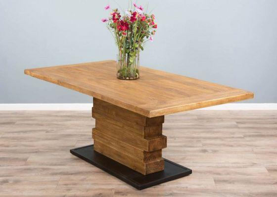 2m Reclaimed Teak Urban Fusion Pedestal Dining Table
