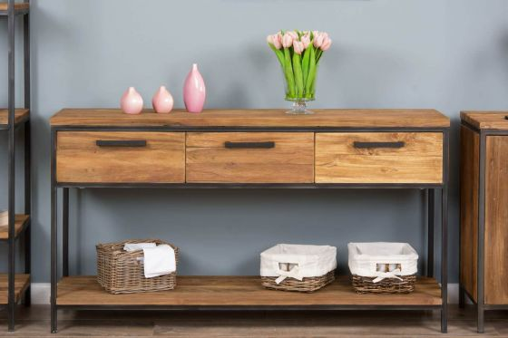 Urban Fusion Three Drawer Console Table