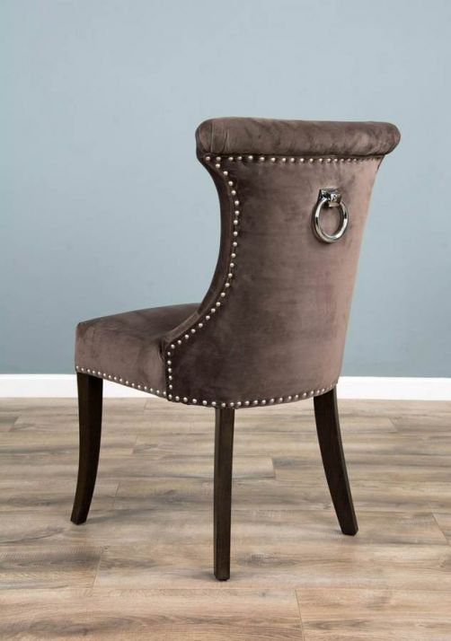 The Velveteen Ring Back Dining Chair - Stone
