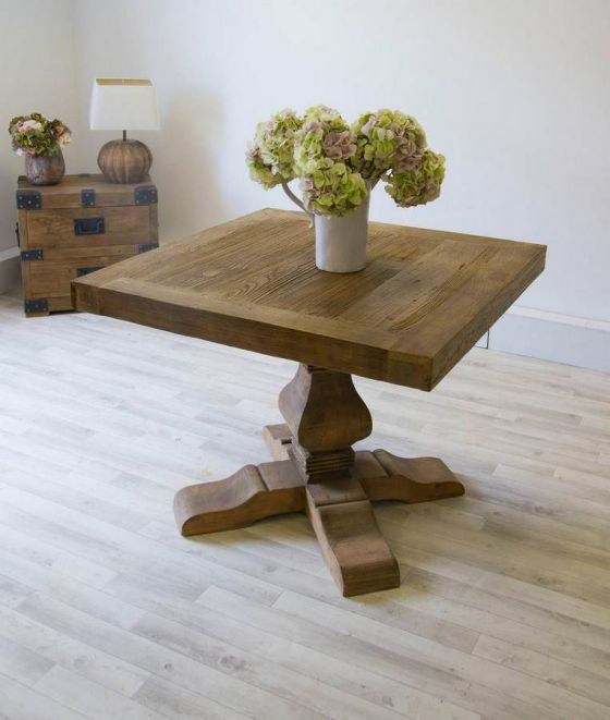 1m Reclaimed Elm Pedestal Dining Table