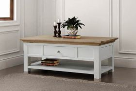 Sennen Coffee Table with Shelf and Drawer