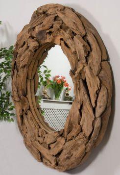 Reclaimed Teak Root Piece Circular Mirror - 4 Sizes